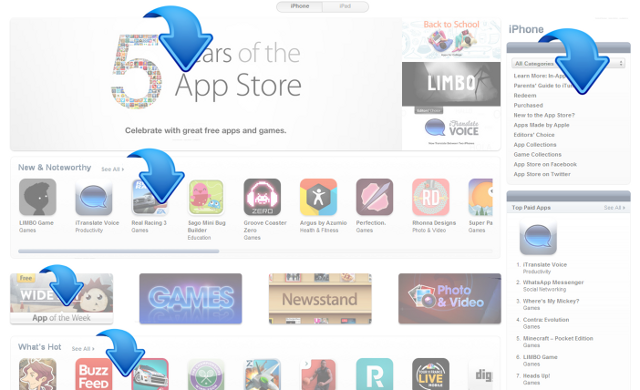 app store featured spots